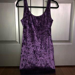 Velvet elastic back dress